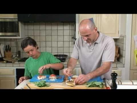 BBF Kid-Friendly Recipe 2: Tasty Tomato Basil English Muffin Pizza - YouTube @bumblebeefoods @seafood4health