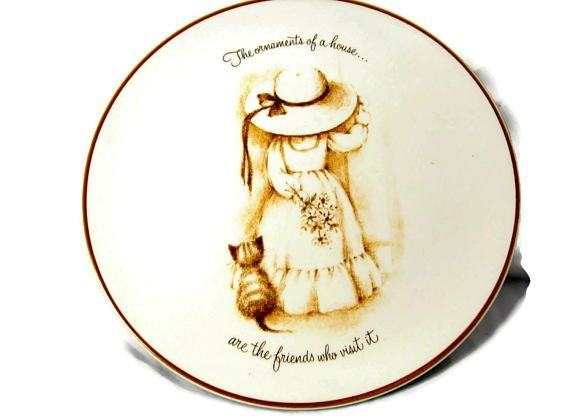 Taylor Smith Taylor Plate Big Hat Little Girl Made USA
