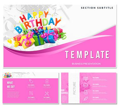 Congratulations Happy Birthday PowerPoint templates | ImagineLayout.com