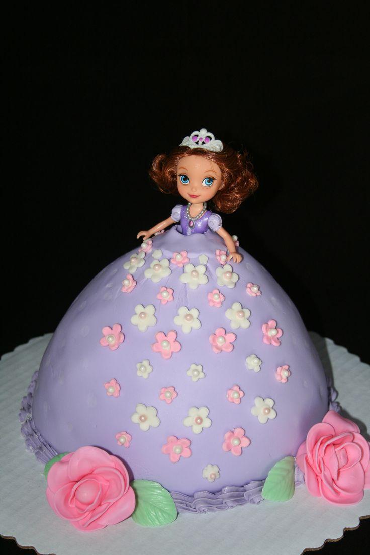 Princess Sophia doll cake..Jen..something for Millie ...