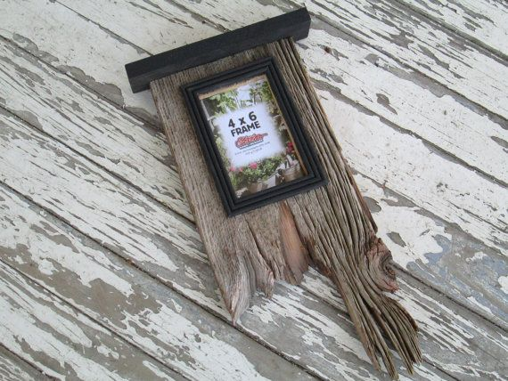 4 x 6 barn wood picture frame vertical rustic shabby chic. $27.00, via Etsy.