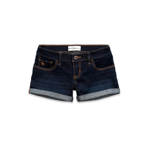 Girls A&F Midi Length Shorts:Rinse   Abercrombie Kids. Size 14 $18.00