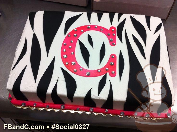 Zebra Birthday Cake Bling