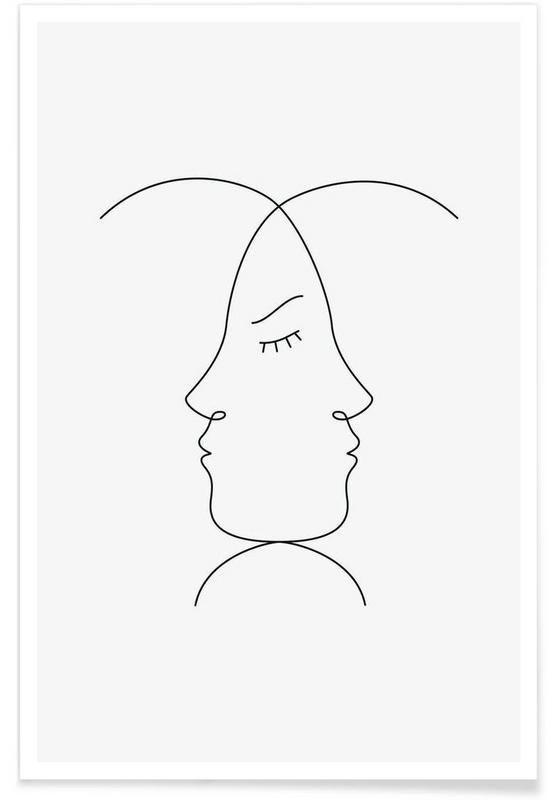 Emoticons als Premium Poster von Lukas Frischknecht | JUNIQE