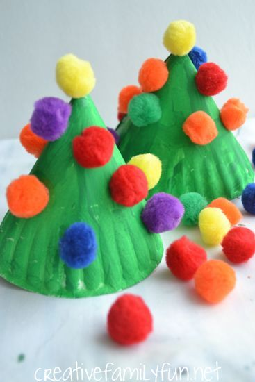 en faire des ornements de sapin! Creative Family Fun: Paper Plate Christmas Tree