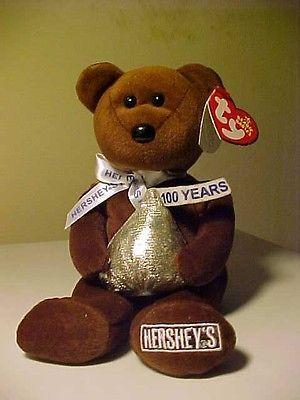 Retired Beanie Babies Cocoa Bean the Hersey Bear DOB 7/7/2007