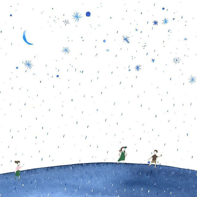 Illustration for the book #terradecabinha . Stars rain! Amanhã é o lançamento do livro!! A partir das 15 hs na @livrariadavila da Fradique. Livro da Gabriela Romeu com fotos lindas do @samuellmacedo_photo e ilustrações minhas. Publicado pela @peiropolis .