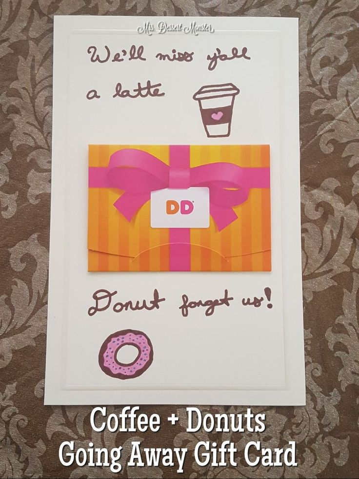 Coffee + Donuts Going Away Present Gift Card