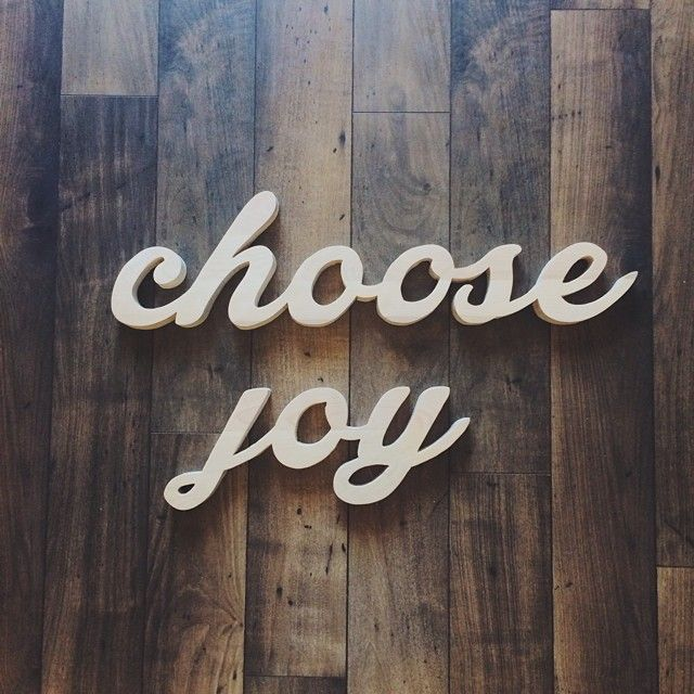 Joy is a choice and a fruit of the spirit; it can be present even when our world is crumbling. Happiness is an emotion, it's fleeting and not at all a permanent guarantee. But, joy, that's permanent, because it's rooted in Christ. Choose joy.