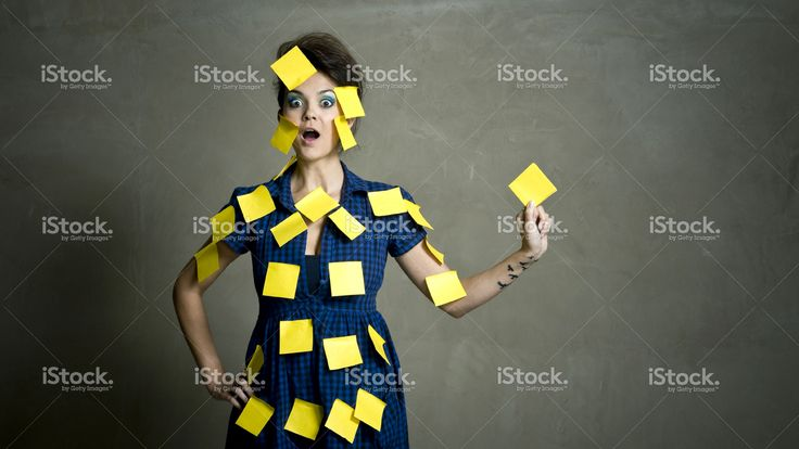 Covered in reminders stock photo 11782970 - iStock