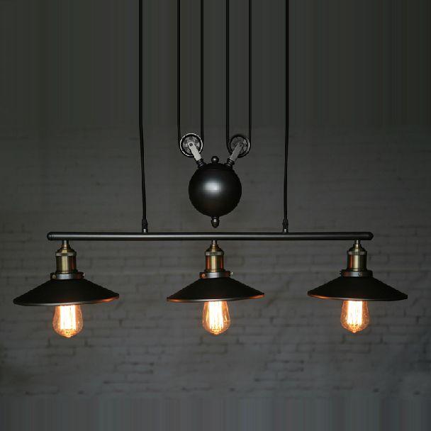 Goedkope rv verlichting vintage industriële katrol hanglampen loft amerikaanse verstelbare draad 3 koppen katrol licht edison hanglampen, koop Kwaliteit hanglampen rechtstreeks van Leveranciers van China:    Naam van het merk: bgtType: verstelbare hanglampen touw katrolMateriaal: metalenSpanning:- 26