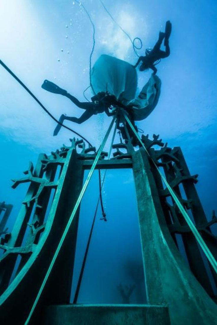 Best Underground Museum Images On Pinterest Canary Islands - Europes first ever underwater museum is full of hyperrealistic human sculptures