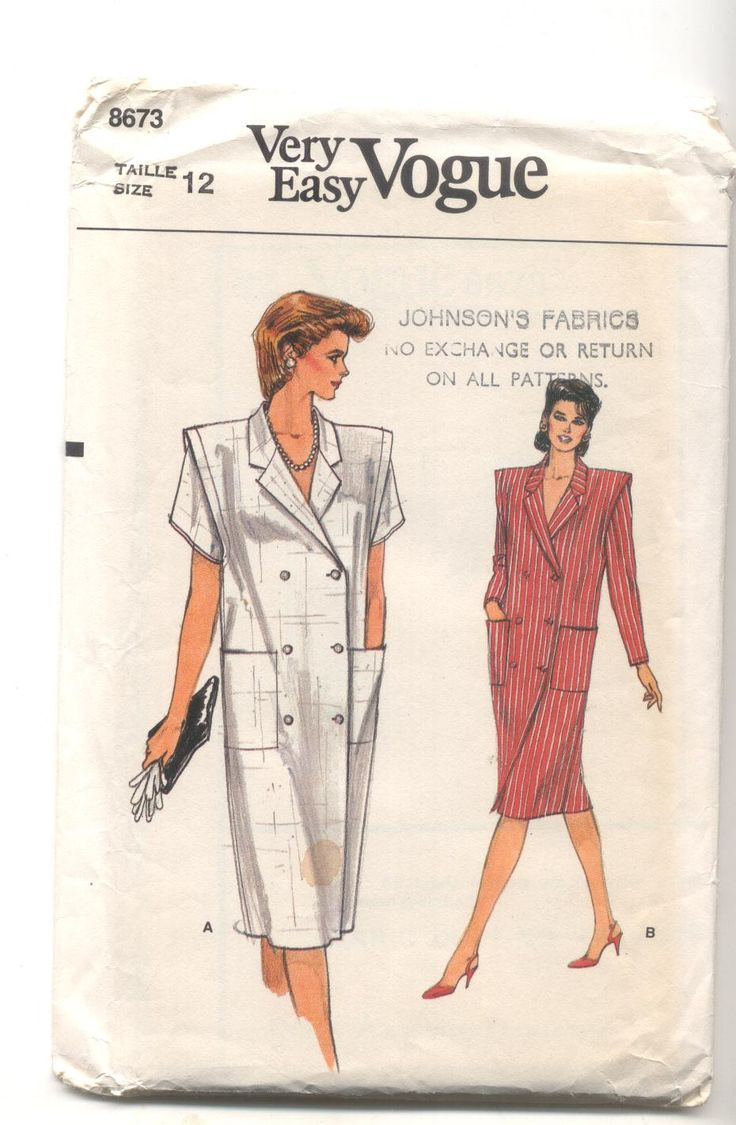 Vogue 8673 Misses Dress Vintage Sewing Pattern by KnitsanStitches on Etsy