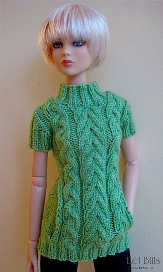 Cabled Tunic for Tonner's Cami https://www.flickr.com/photos/121363204@N05/shares/Y091gb | Lel Bills's photos