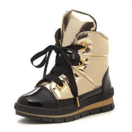 ботинки золотистые зимние Jog Dog