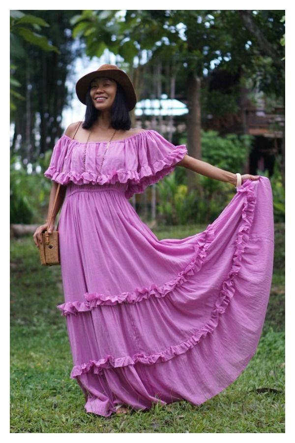 Bohemian Purple Boho Dress