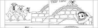 A set of simple black and white pictures (4-to-a-page) which can be cut out and sequenced.  Alternatively, they can be used as stimulus for children's own written retelling of the story.