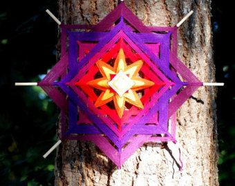 This listing is for a custom 36 inch yarn mandala.  The weaving of an Ojo de Dios is an ancient contemplative and spiritual practice. In many of the Pueblos of New Mexico (U.S.) Ojos de Dios have traditionally been created for celebration or blessing, presented as a gift or designed to bless a home.  Each mandala we offer is a spiritual object, woven in solitude, as part of an extended meditation or prayer, and imbued with magical intent. The Gods Eye is symbolic of the power of seeing and…