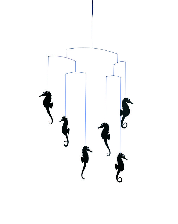 Sea Horse (black) by Flensted Mobiles