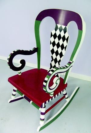 I bought a rocker for the porch maybe I'll give this a try. Hmmmm what colors?  Rockin' a little paint
