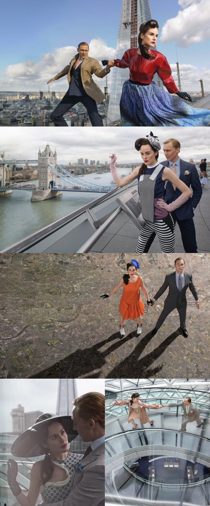 TIME Style and Design: Futuristic London Fashion - Michelle Dockery and Tom Hiddleston