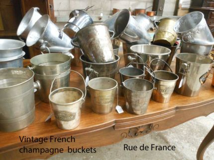 OLD VINTAGE FRENCH WINE CHAMPAGNE - MOET & CHANDON BUCKETS