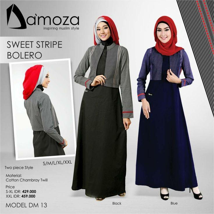 """""""New Model"""" Gamis Damoza 13 Gamis Muslim Dewasa Persembahan Damoza dengan bahan Cotton Trixie Twill Tebal, halus, lembut dan adem, Tersedia 2 pilihan kombinasi warna:  1. Black 2. Navy"""