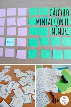 IMPRIMIBLE del mémori adaptado para el cálculo mental.