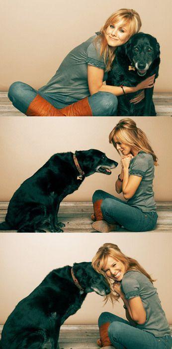 Kristen Bell disfrutando con su perro