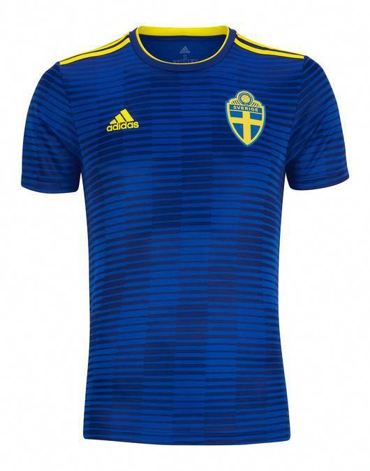7492ca976e4 Sweden new adidas adult football soccer wc18 away jersey shirt bnwt in 2019
