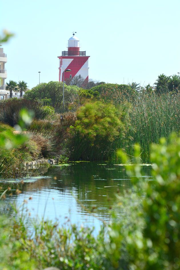 The Green Point Lighthouse in the distance.