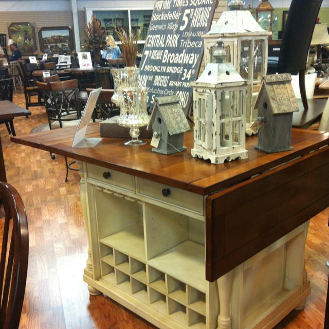 Kitchen Island At Woodstock Furniture Outlet Like The White With Wood Top And Dark S Ideas Diy
