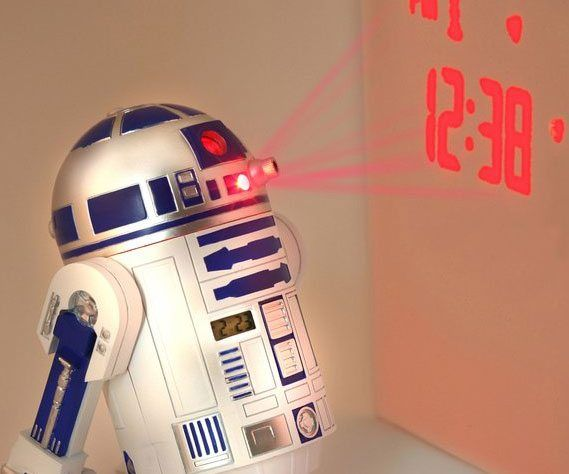 Star Wars R2-D2 Projection Alarm Clock - https://tiwib.co/star-wars-r2-d2-projection-alarm-clock/ #StarWars #gifts #giftideas #2017giftideas #xmas