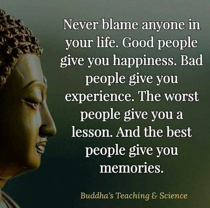 Never Blame Anyone In Your Life. Learn From Every Experience. A Great Quote  To