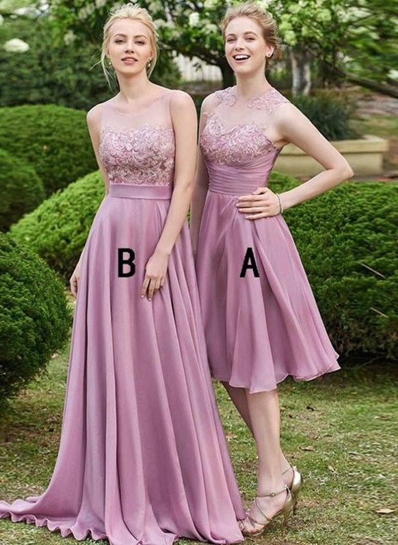 Elegante Brautjungfernkleider Kurzr Chiffon Brautjungfer Kleid Rosa Kurz Modellnummer Bm161 In 2020 Cheap Bridesmaid Dresses Bridesmaid Dresses Bride Dress