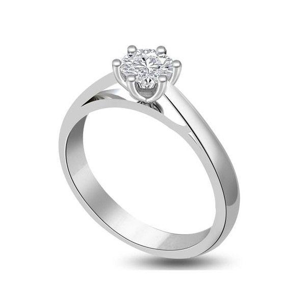 ANELLO DI FIDANZAMENTO SOLITARIO CON DIAMANTE 18CT ORO BIANCO | Solitario con diamante taglio princess montato in 6 griffe. L`anello è disponibile in 18ct oro bianco, 18ct oro giallo e in platino. Il peso dei carati del diamante può variare da 0.20ct a 0.60ct ed il colore da F ad I e la purezza da VS1 ad SI1. L`anello è accompagnato dal certificato del diamante. Perfetto per fidanzamento, matrimonio o anniversario e come regalo nel giorno di San Valentino.