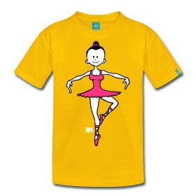 Ballerina - Ballet T-Shirt. #Spreadshirt #Cardvibes #Tekenaartje