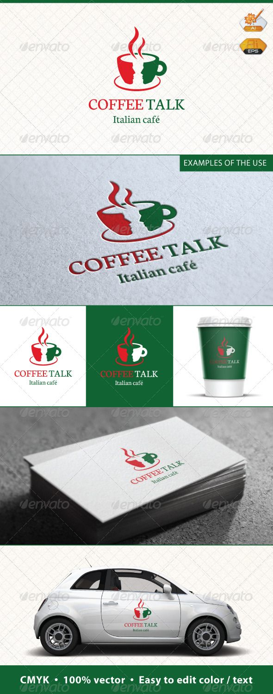 Coffee Talk Logo Template
