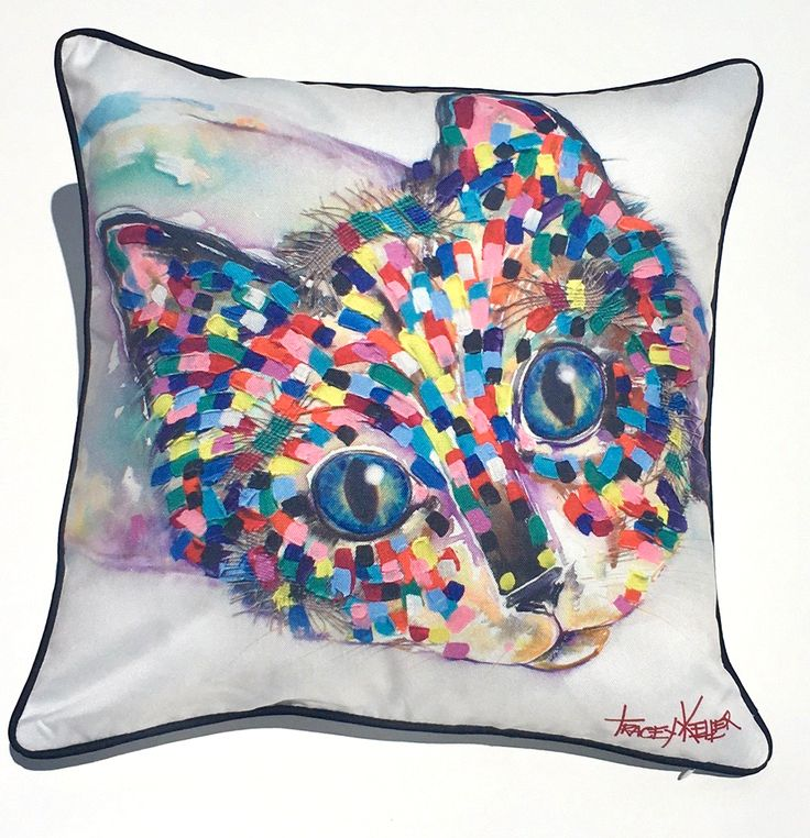 Reclining Cat Indoor/Outdoor Cushion Cover - Tracey Keller