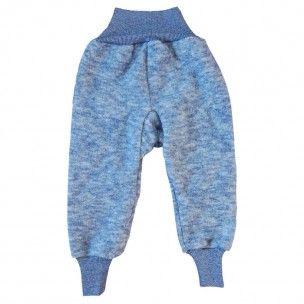 Wol-fleece Broek Blauw