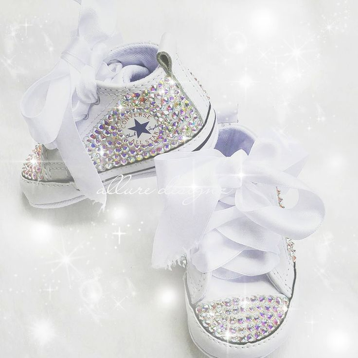 Bling baby shoes, baby girl shoes, crystal baby shoes, baby girl converse, baby converse, baby shoes, baby bling shoes, custom baby converse by AllureDesignz on Etsy