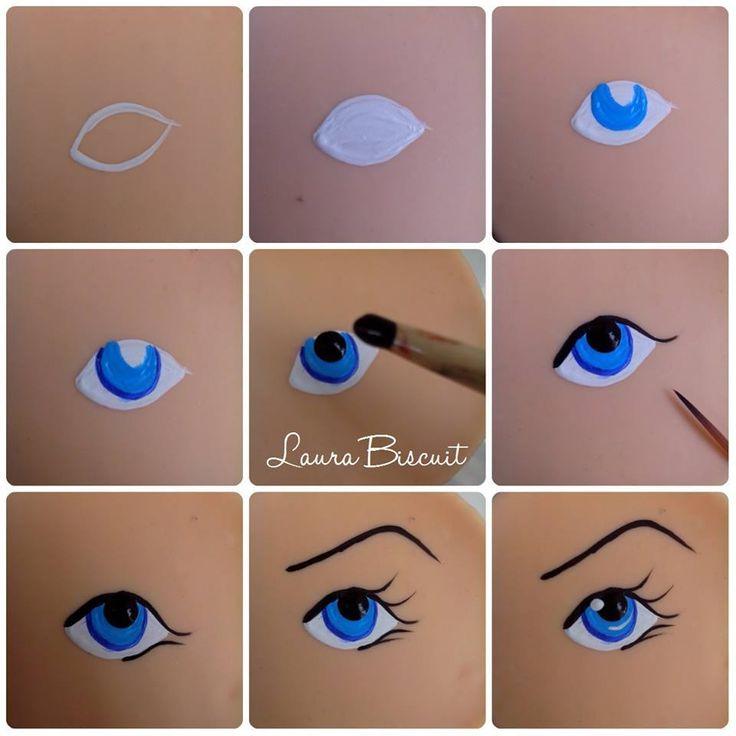 Pintando un ojo                                                                                                                                                                                 Más