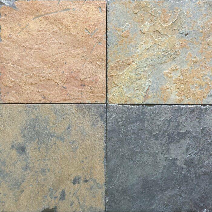 African Multi Color Natural Cleft Face Gauged Back 16x16 Slate Field Tile In 2020 Slate Tile Slate Flooring Natural Stone Tile