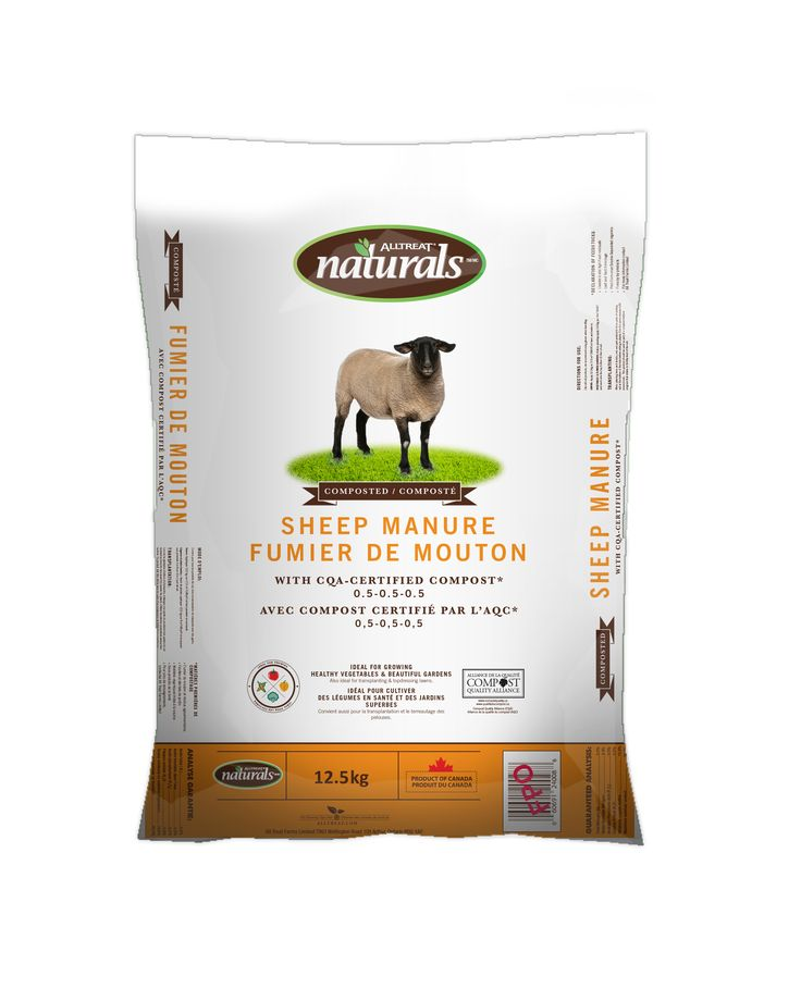 Natural Sheep Manure, for more info go to http://www.alltreat.com