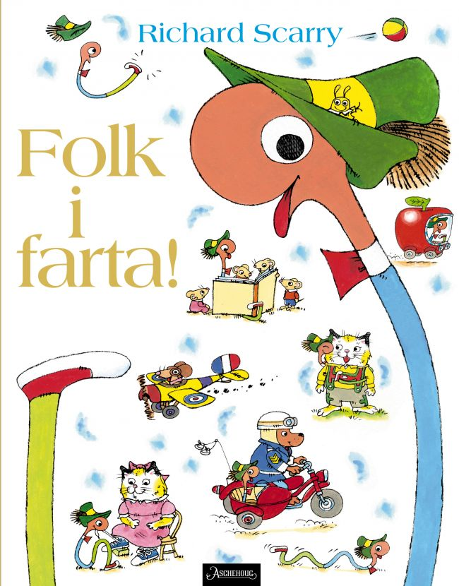 Ny, stor bildebok av Richard Scarry - en søt, morsom og spennende feelgood-bok for de minste.