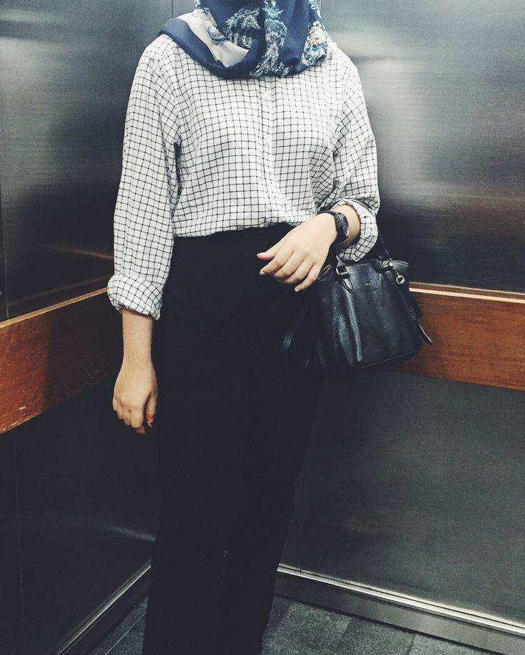 Casual hijab  Everyday look hijab Office look hijab