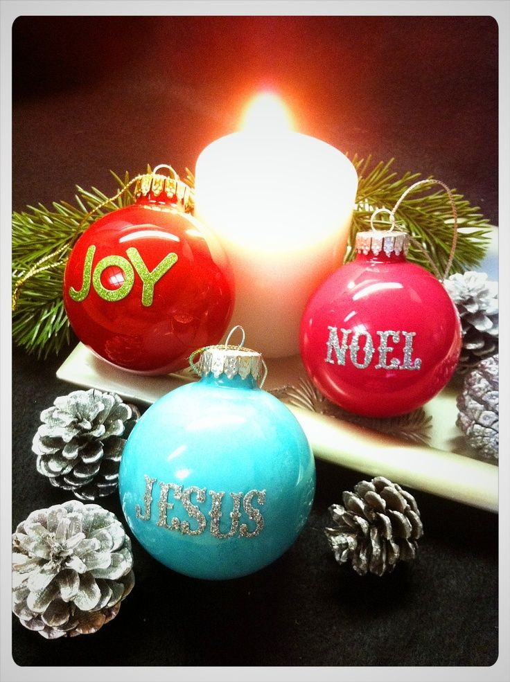 DIY Painted Ornaments   DIY Christmas ornament - just need paint, stickers ...   Christmas cr ...