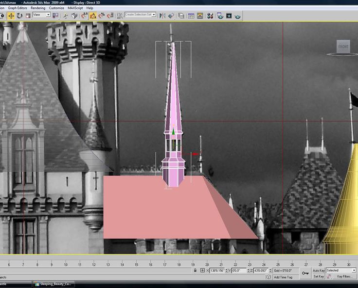 A screenshot of the first few architectural elements on the castle project. I chose the 'apse' or 'great hall' depending on if it's a religious area to tackle first. Along with the spire it is perfectly symmetrical at this point.  http://ift.tt/1G95kUE  #disneyland #disney #sleepingbeauty #castle #anaheim #3d #sketchup #3dprinting by modelingdisney