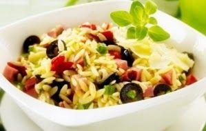 Эликсир молодости: Салат из коричневого риса и ветчины