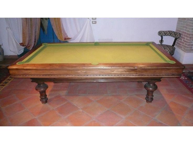 Rogai Biliardi modello Toledo - Costruito in tutte le misure con piano gioco in ardesia italiana.